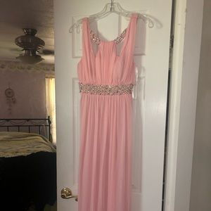 Light Pink Pearl & Jewel Prom Gown